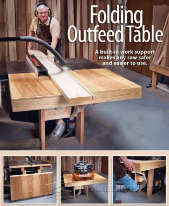 3889-Folding Table Saw Outfeed Table