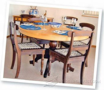3898-Round Dining Table Plans