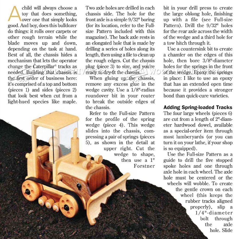 Wooden Toy Bulldozer Plans