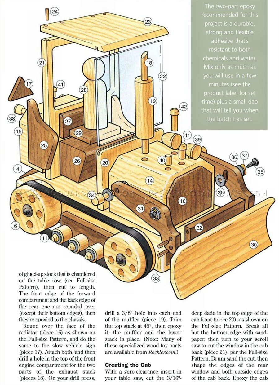 Wooden toy bulldozer plans woodarchivist for Toy plans
