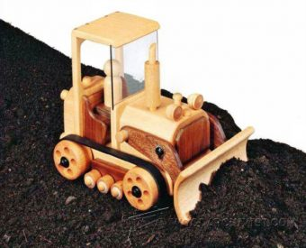 3900-Wooden Toy Bulldozer Plans