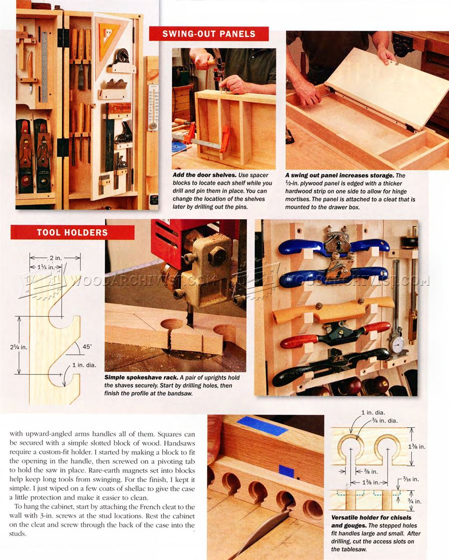 Hand Tool Wall Cabinet Plans