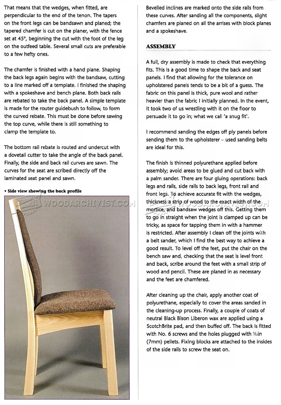 Laminated Dining Chair Plans