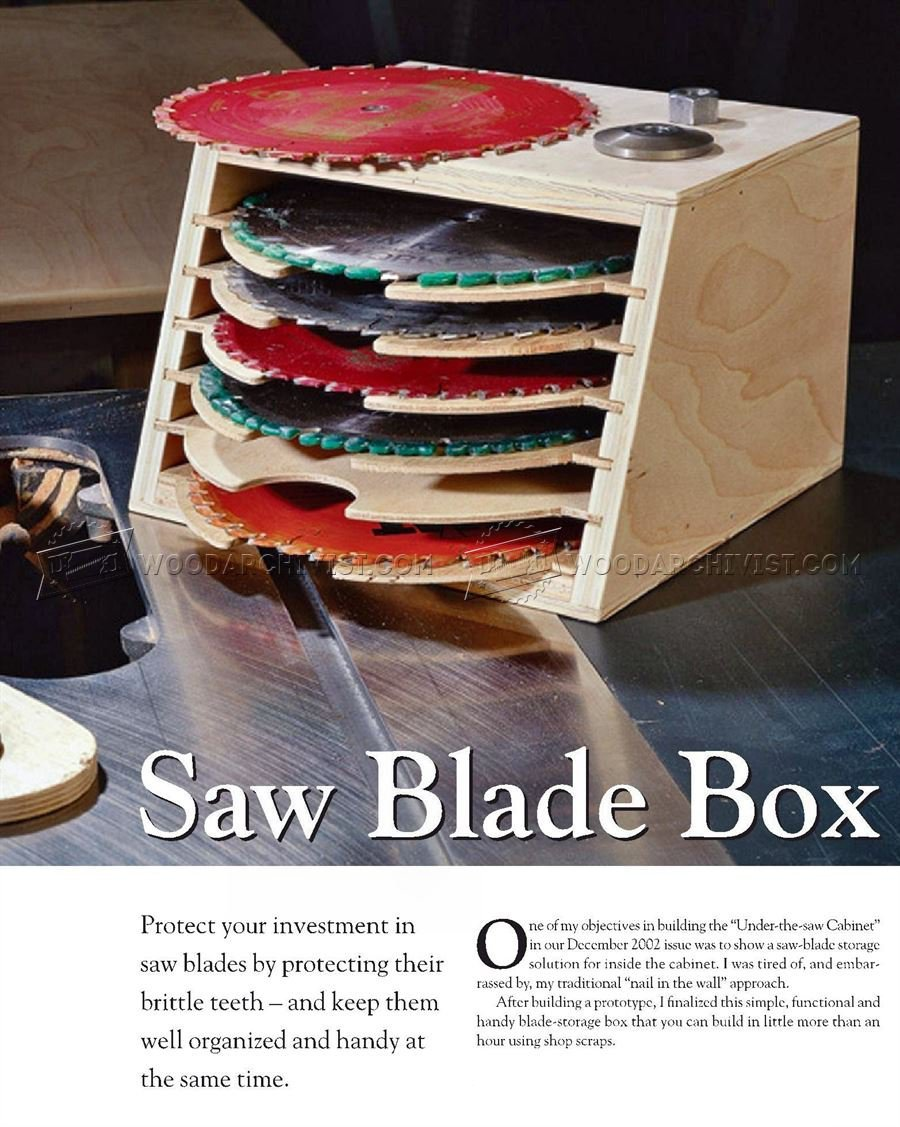 Saw Blade Storage Box