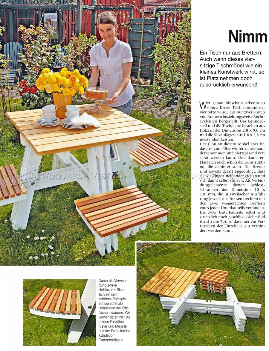 Foldable Picnic Table Plans