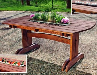 3921-Outdoor Dining Table Plans