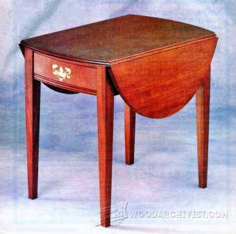 3925-Drop Leaf End Table Plans