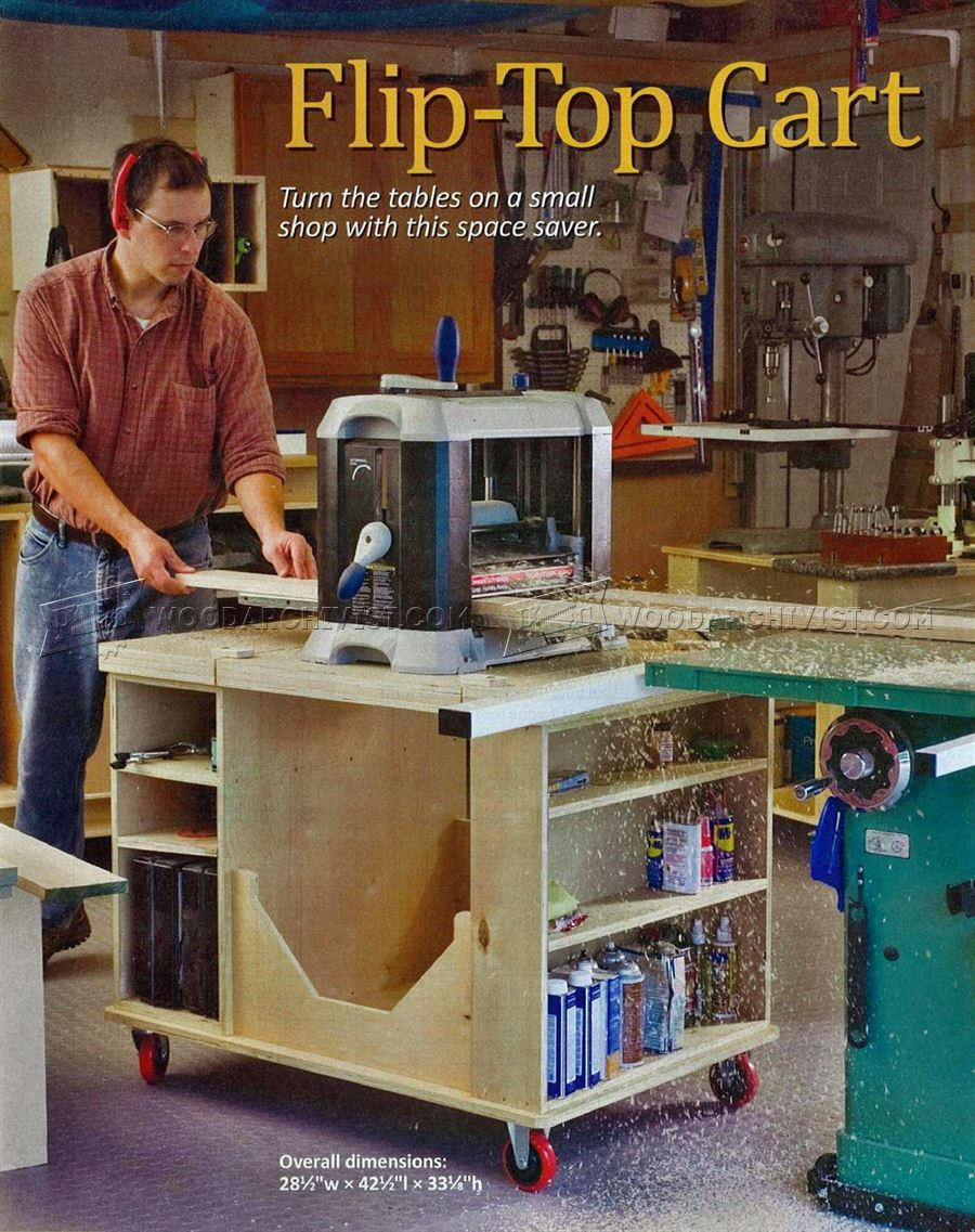 Flip Top Tool Stand Plans • WoodArchivist