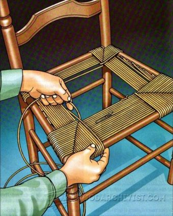 3932-Rush Seat Weaving