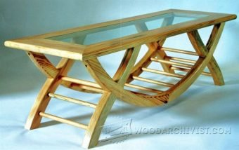 3937-Glass Top Coffee Table Plans
