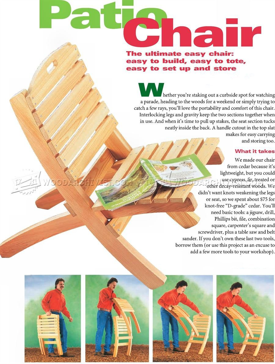 Folding Patio Chair Plans