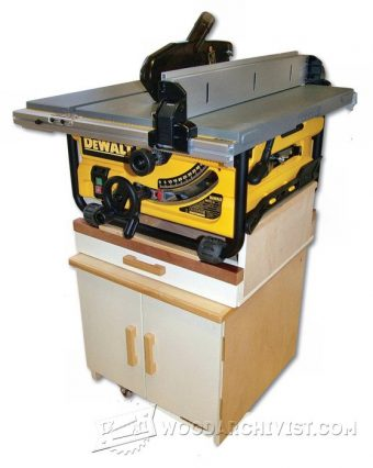 3857-Mobile Table Saw Stand