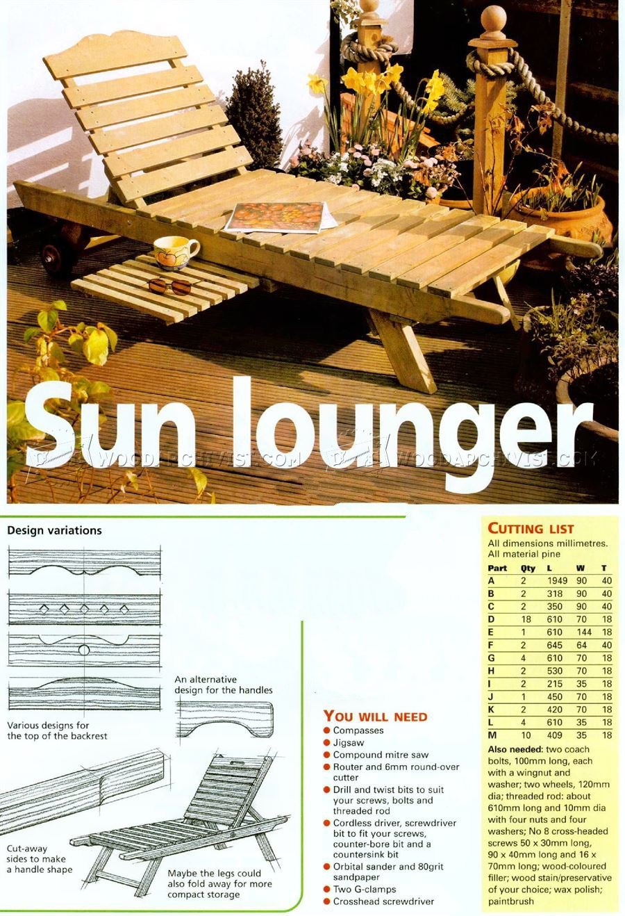 DIY Sun Lounger
