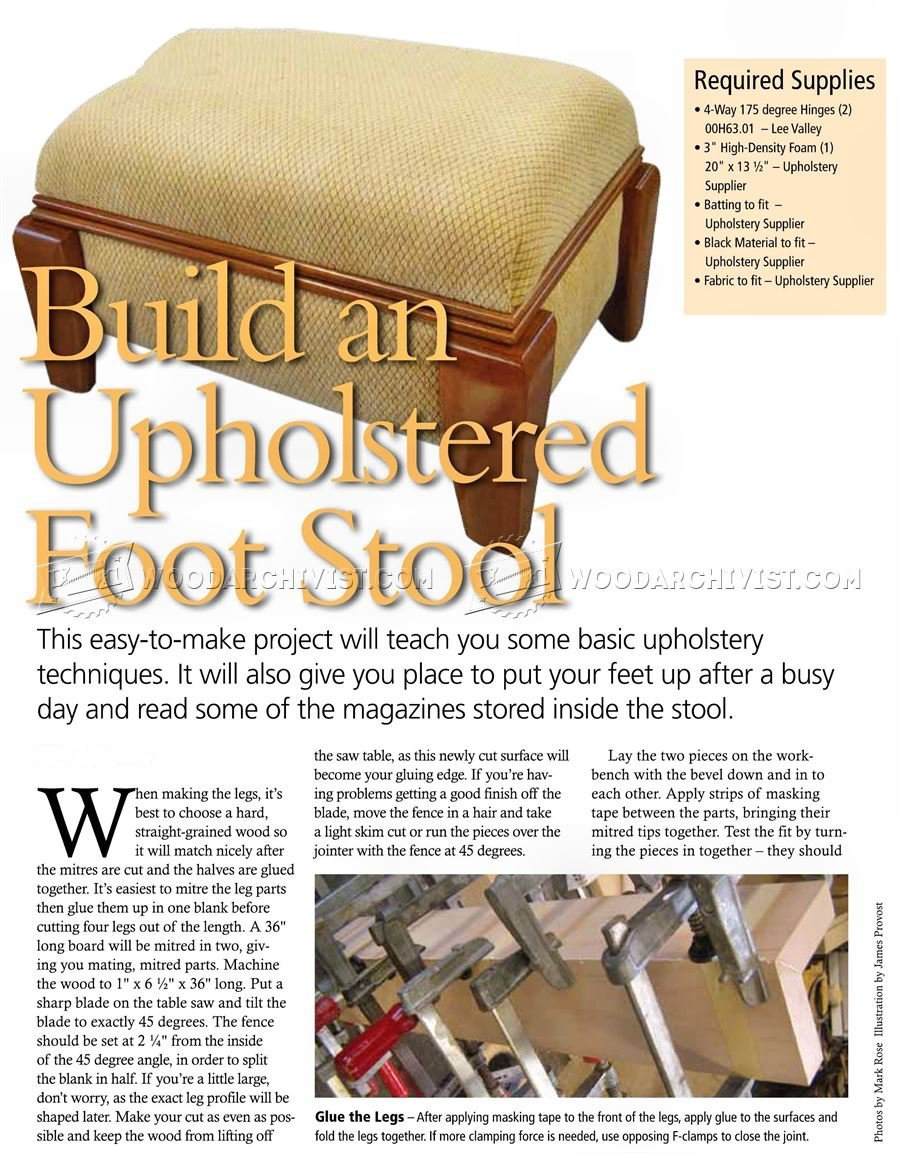 DIY Footstool