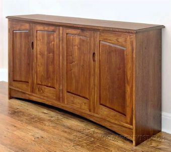 3962-Walnut Sideboard Plans