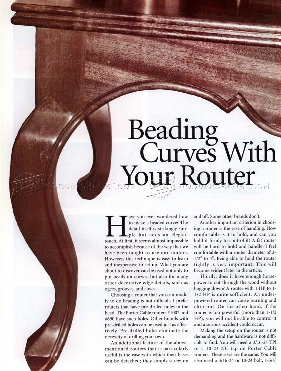 Beading Curves With Router