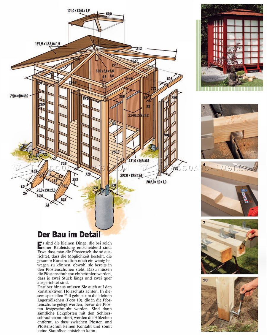 Japanese tea house plans woodarchivist for Japanese house plans free