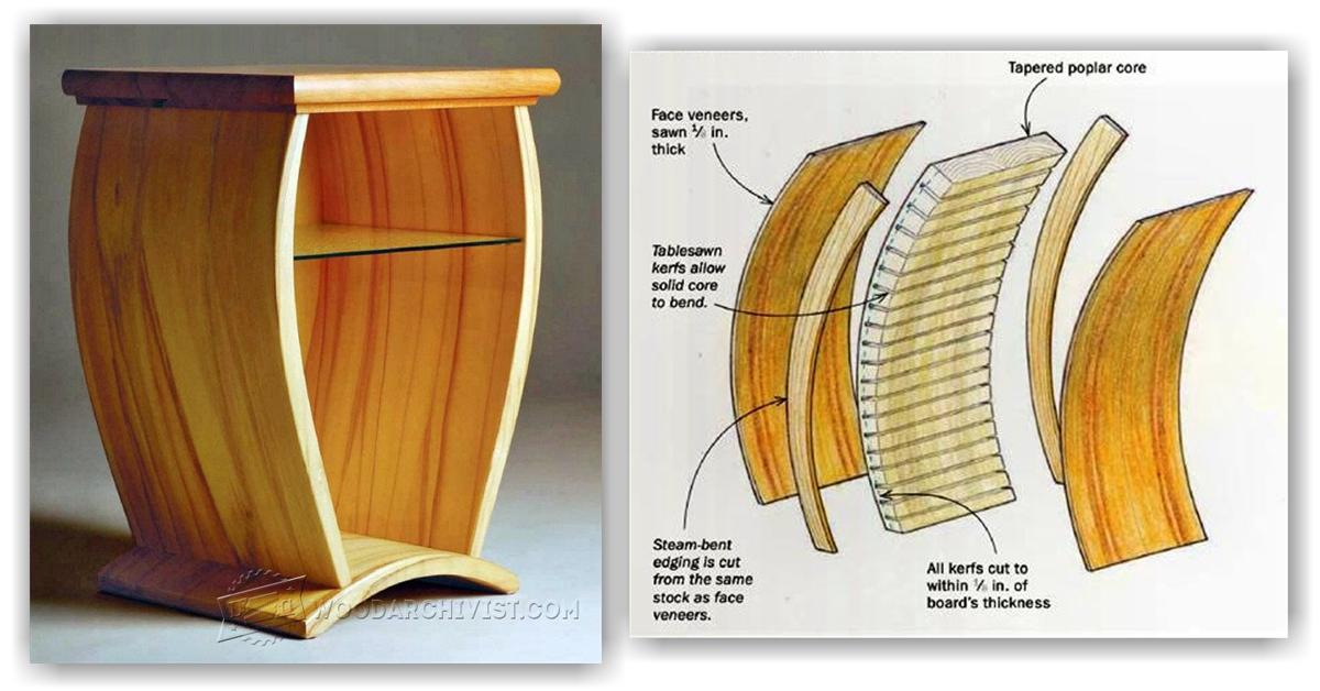 Making Curved Wood Panels For Furniture Woodarchivist