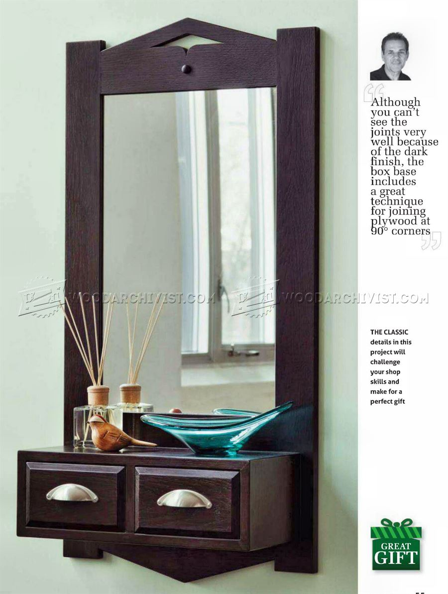 Front Hall Mirror Plans