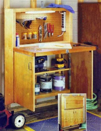 3975-DIY Fold Down Workbench