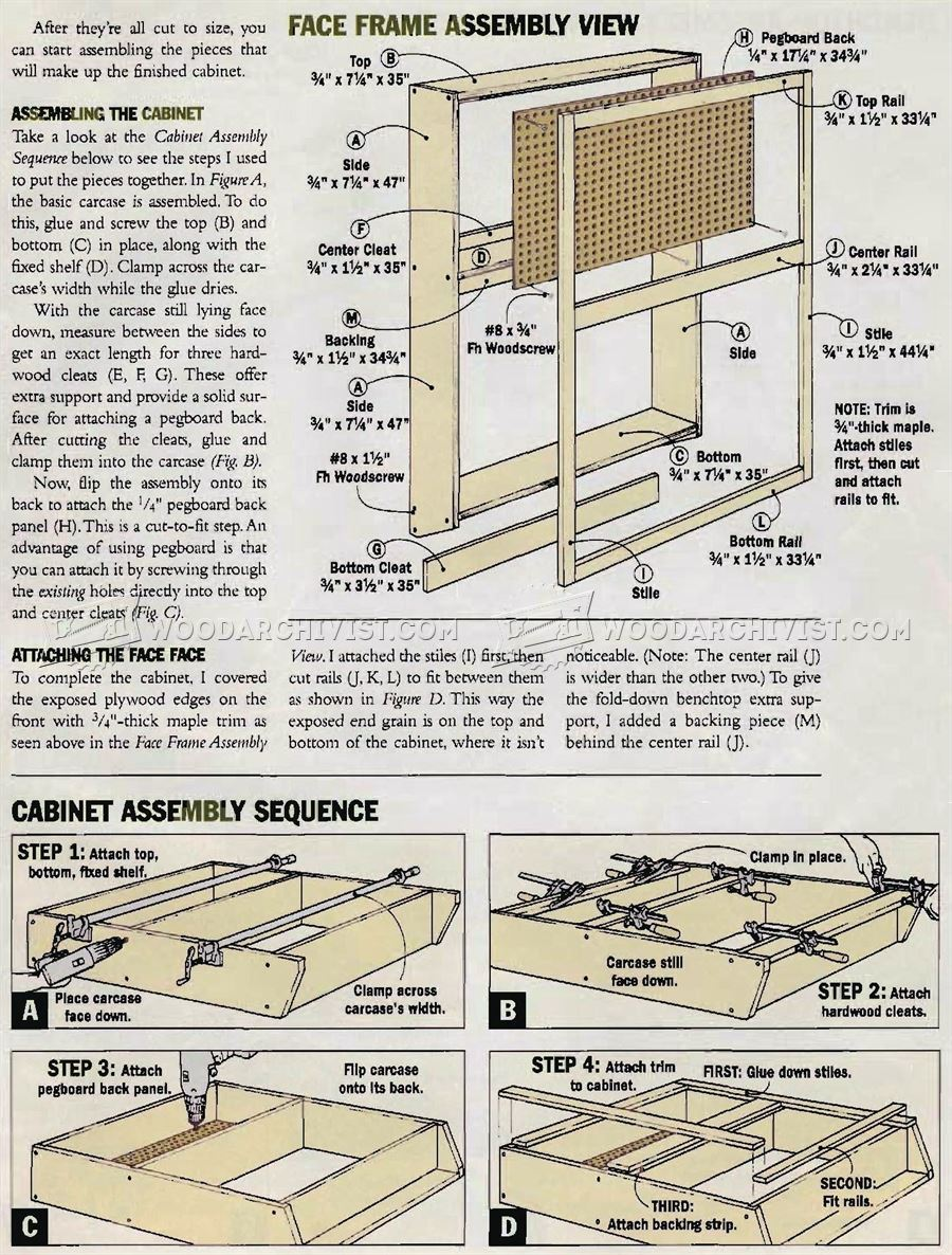 DIY Fold Down Workbench