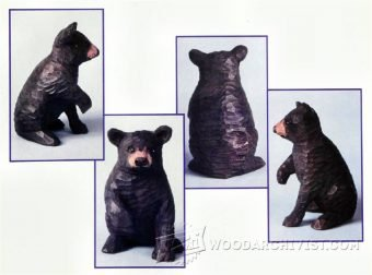 3976-Bear Carving - Wood Carving Patterns