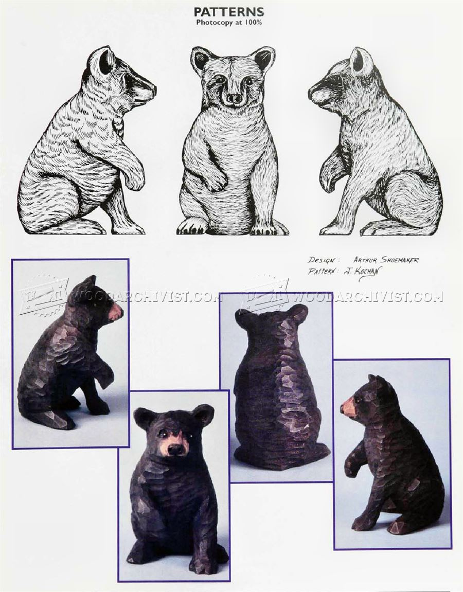 Bear Carving - Wood Carving Patterns