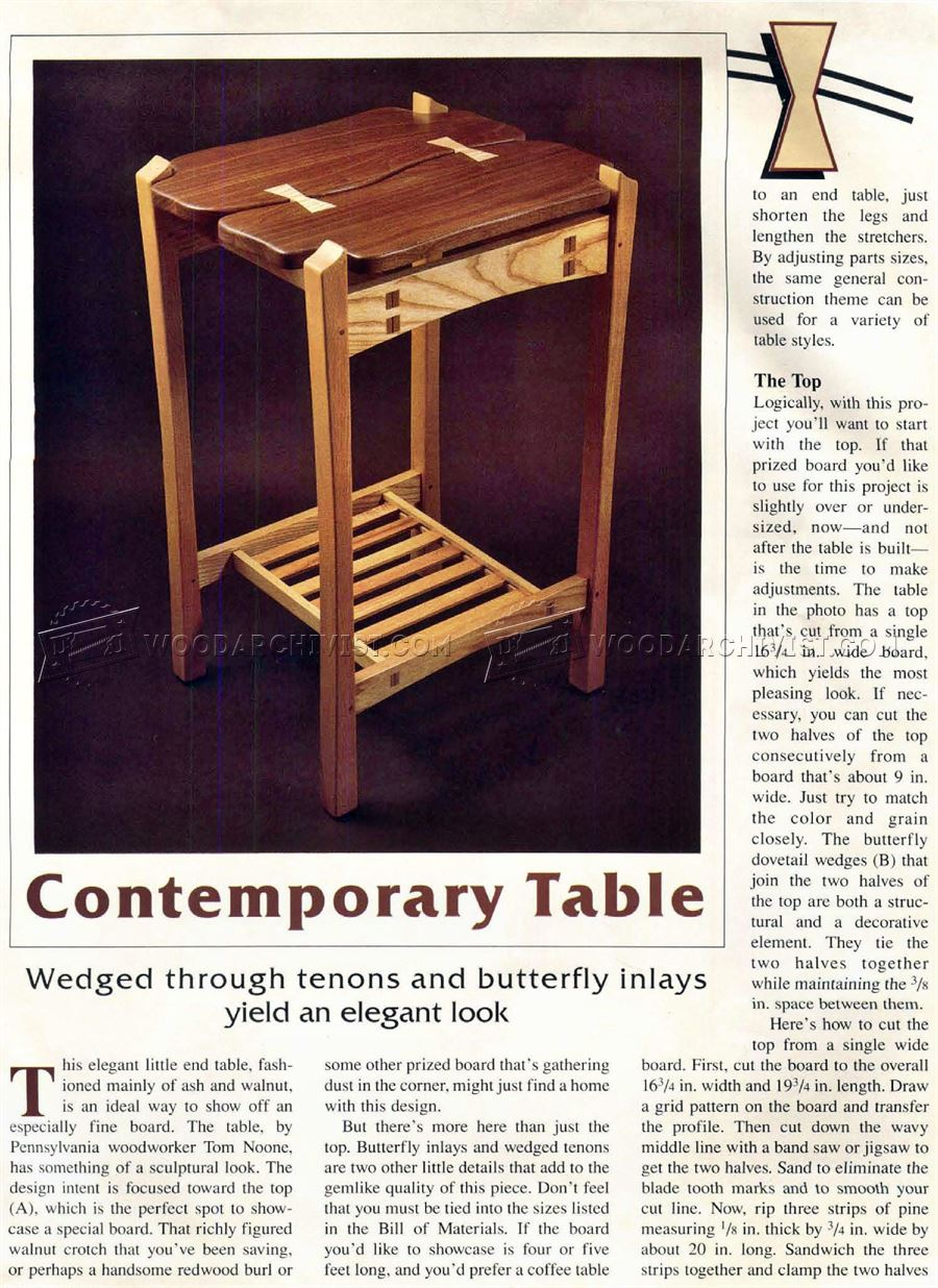 Contemporary Table Plans