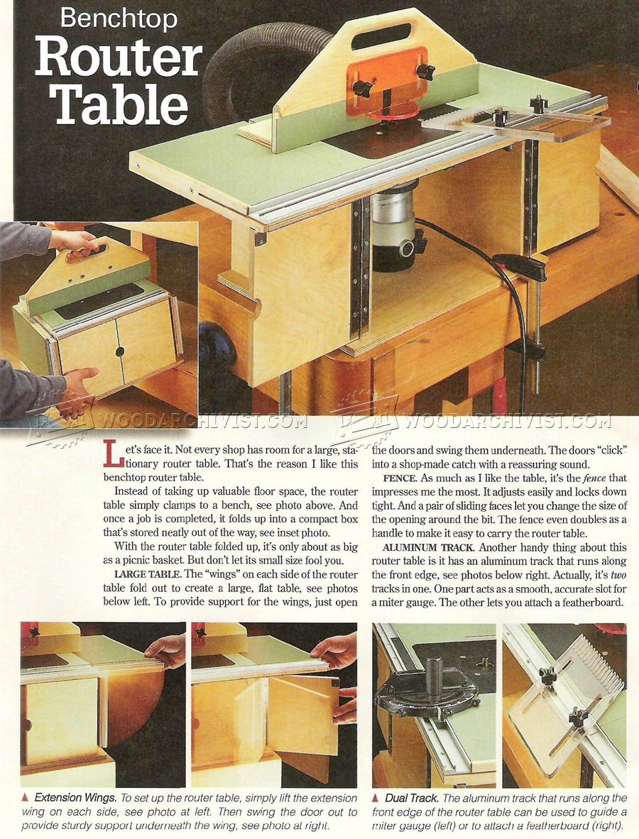 Benchtop router table plans woodarchivist benchtop router table plans greentooth Image collections