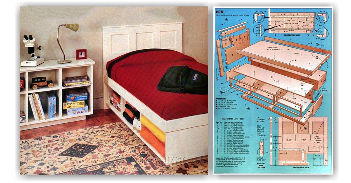 Kids Bedroom Furniture Plans • WoodArchivist