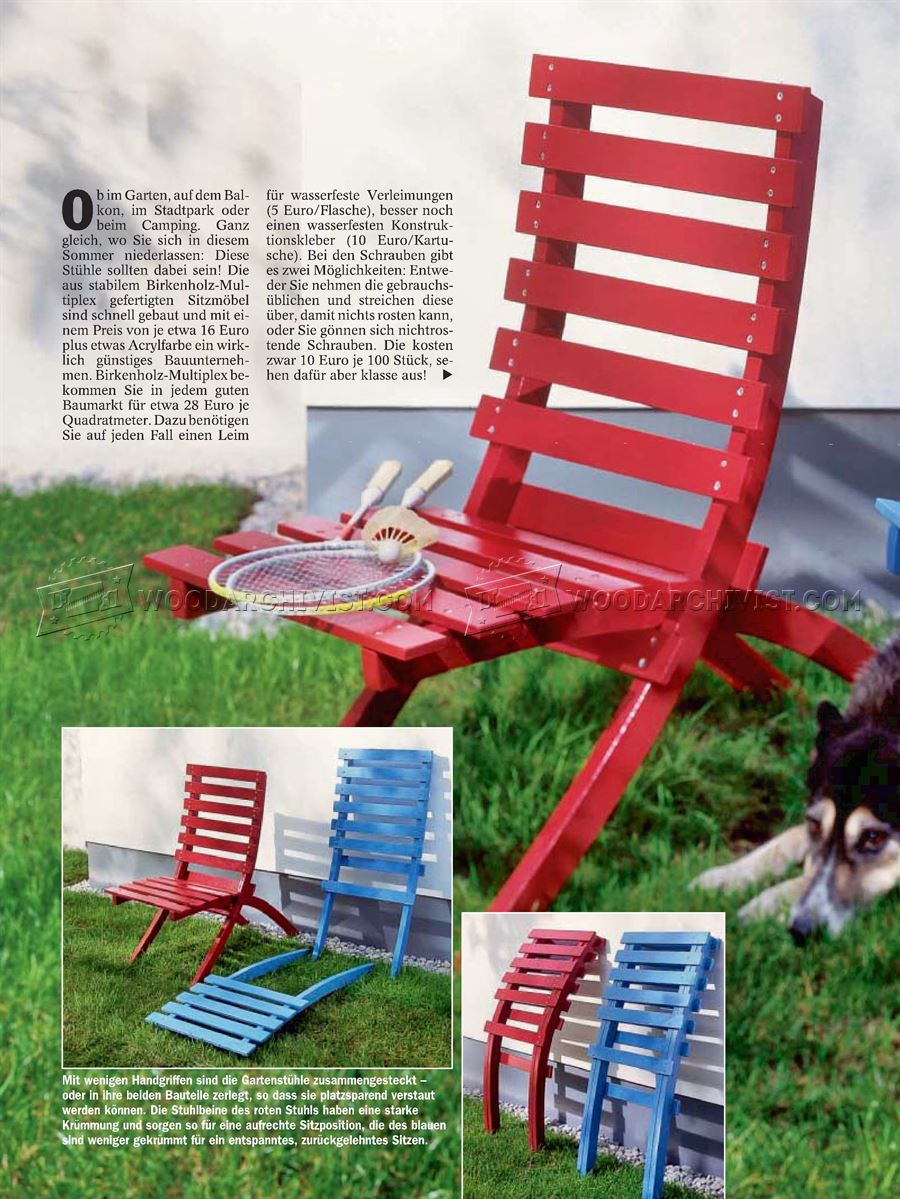 Folding Outdoor Chair Plans