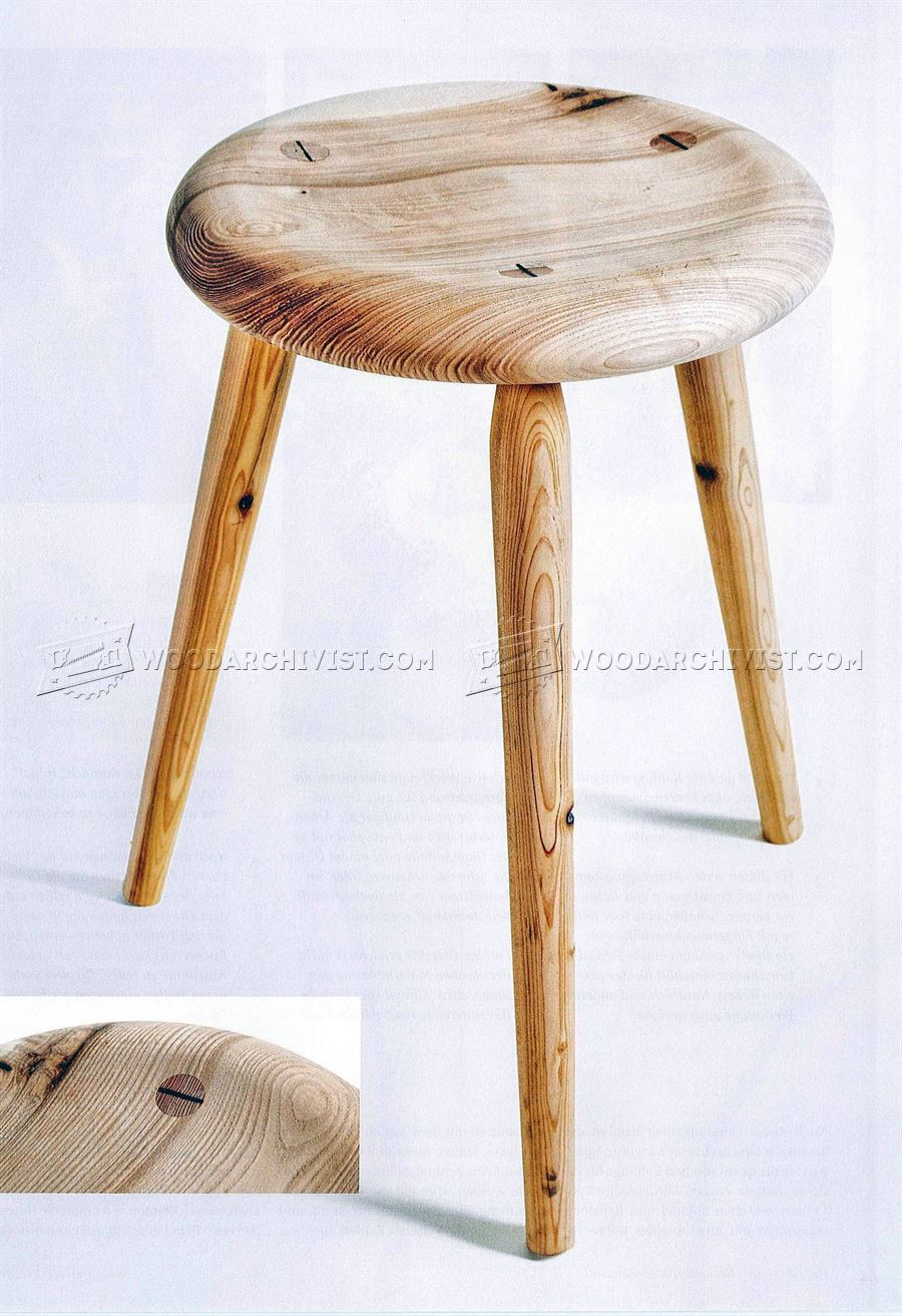 Diy Three Legged Stool Woodarchivist