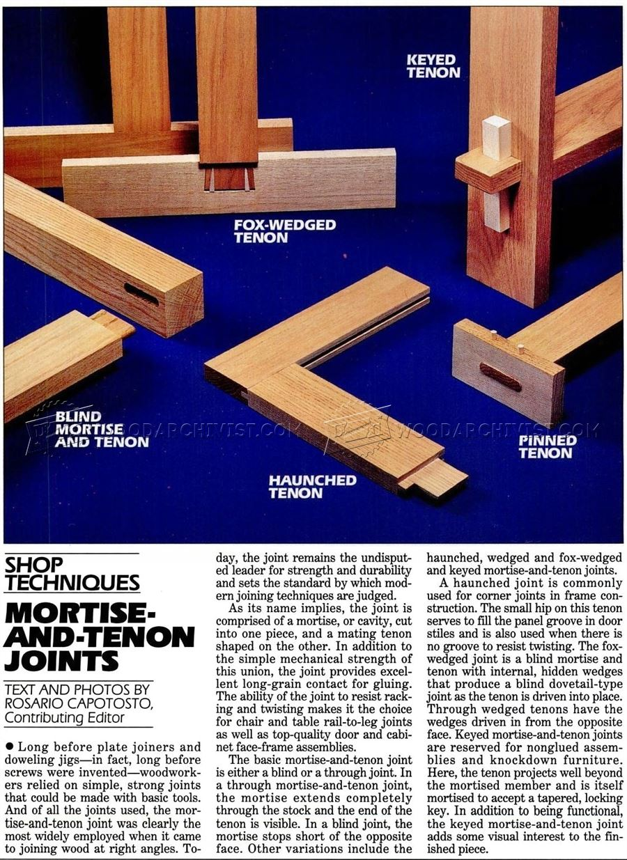 Mortise And Tenon Joints