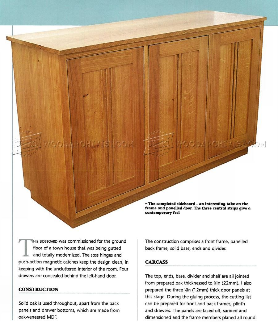 Contemporary Sideboard Plans