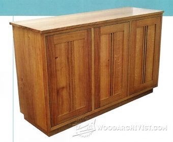 4013-Contemporary Sideboard Plans