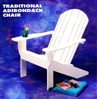 4015-Traditional Adirondack Chair Plans