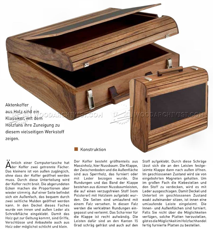 DIY Wooden Attache Case