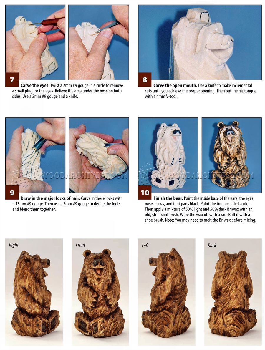 Bear Carving – Wood Carving Patterns
