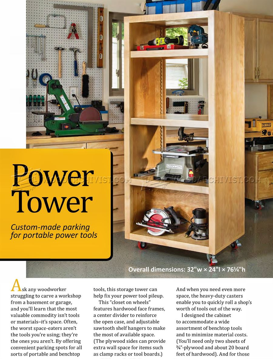 DIY Power Tool Storage Tower ...  sc 1 st  WoodArchivist & DIY Power Tool Storage Tower u2022 WoodArchivist