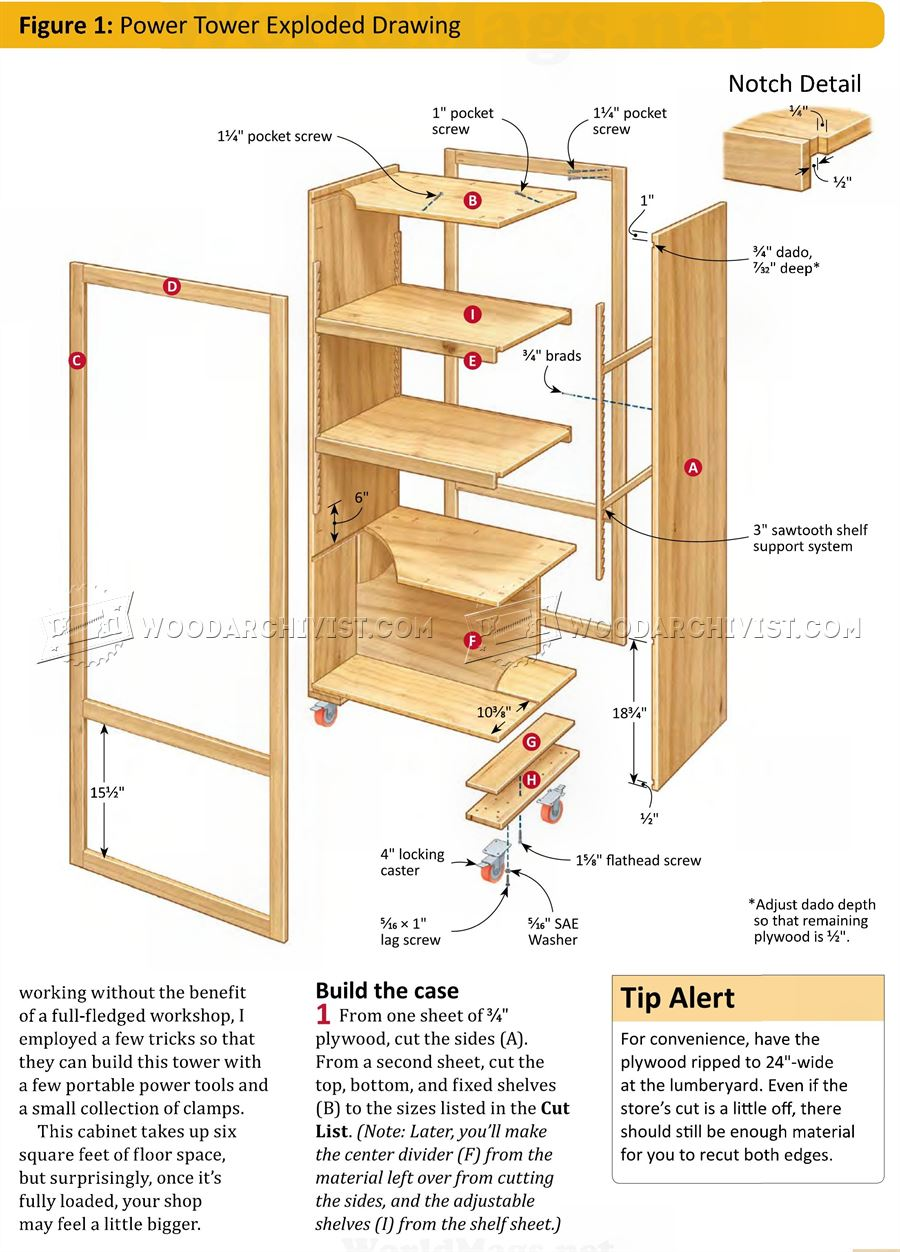 DIY Power Tool Storage Tower • WoodArchivist