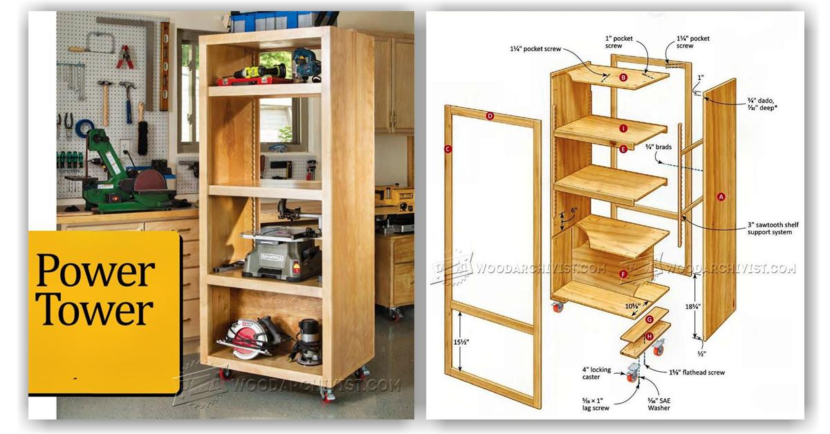 Diy Power Tool Storage Tower Woodarchivist