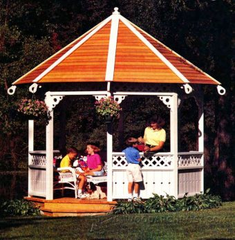 4026-Open-Air Gazebo Plans