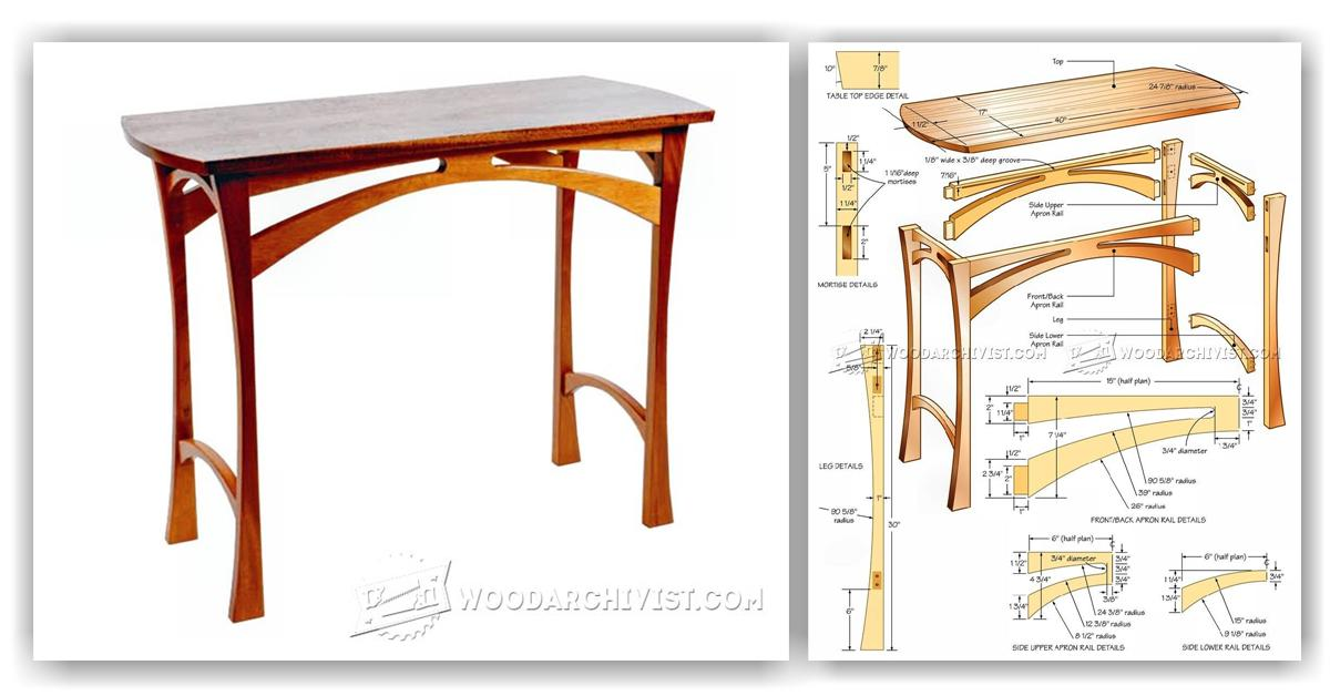 Accent Table Plans • WoodArchivist