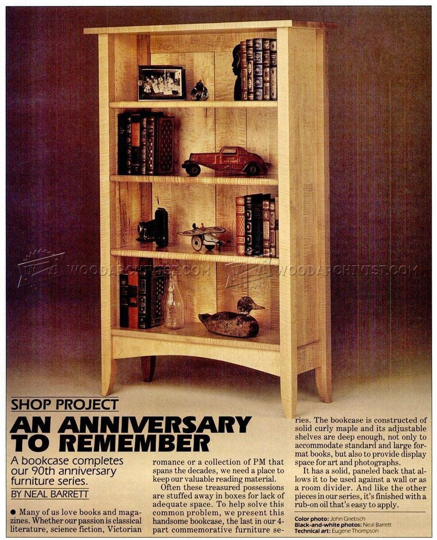 Anniversary Bookcase Plans