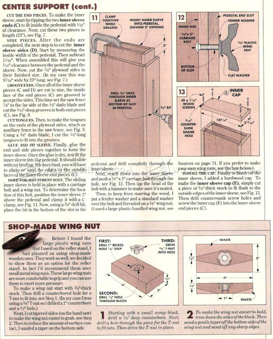 Wooden Roller Stand Plans