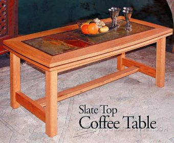 4040-Slate Top Coffe Table Plans