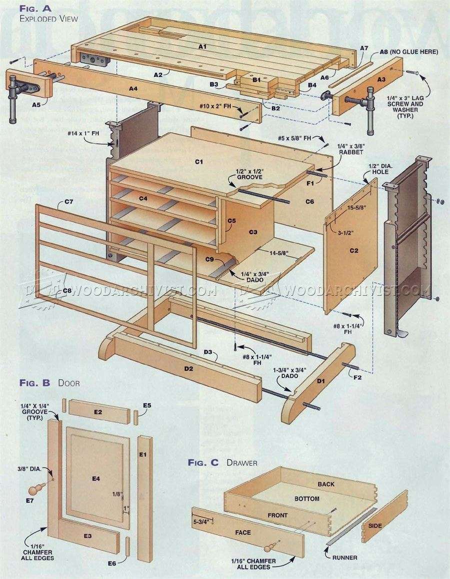 Adjustable Workbench Plans