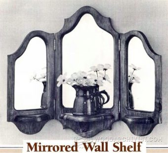 4049-Mirrored Wall Shelf Plans