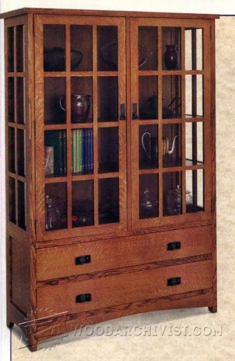 4050-Arts and Crafts Hutch Plans