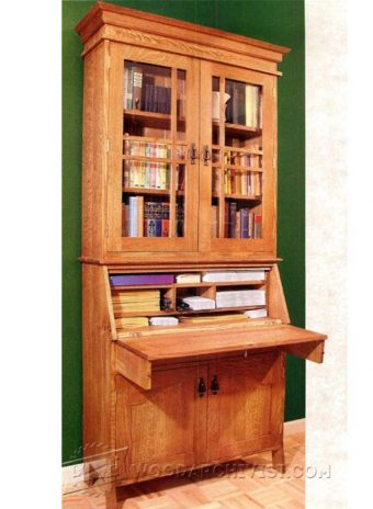 4055-Arts and Crafts Bookcase Plans